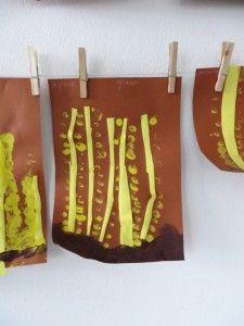 Koren vingerverven, kleuteridee.nl , thema bakker voor kleuters