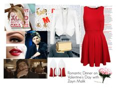 """Romantic Dinner on Valentine's Day with Zayn Malik"" by akirarae ❤ liked on Polyvore"