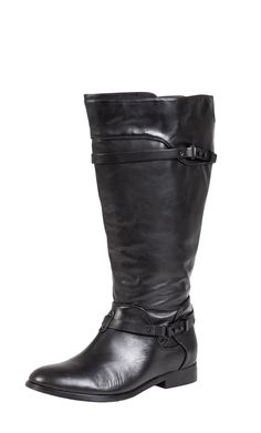 City Chic - BUCKLE FLAT BOOT - Women's plus size fashion