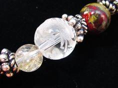 「龍」を彫った水晶、ルチル、ジャスパーを使ったブレスレットです。このジャスパーですが、赤と緑色で別名「ドラゴン・ブラッド・ジャスパー」といわれており、文字通り... ハンドメイド、手作り、手仕事品の通販・販売・購入ならCreema。