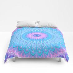 NEW in my Society6 shop: Winter Star Mandala Comforter by David Zydd #giftidea #bedroom #artwork #art