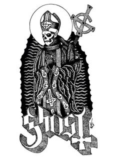 Ghost print papa emeritus  on Etsy, $15.65