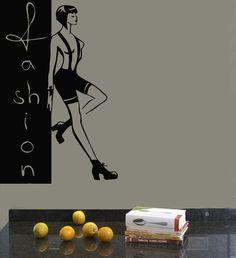 Wall Decals Vinyl Decal Sticker Art Mural Beauty Shop Decor Fashion Woman Kj138