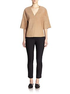 Theory - Suede Nolani Top