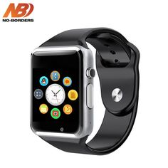 Bluetooth Smart Watch - WJPILIS Touch Screen Smartwatch Smart Wrist Watch Phone Fitness Tracker SIM TF Card Slot Camera Pedometer iOS iPhone Android Samsung LG Kids Women Men (Black) * More info could be found at the image url. (This is an affiliate link) Iphone Android, Iphone 6, Android Watch, Android Smartphone, Android Phones, Ios Phone, Wrist Watch Phone, Camera Watch, Apple Watch