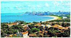 Vista do Alto da Sé em Olinda - Pernambuco / Brasil