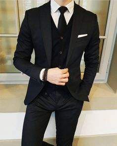 Latest Designs Black Wedding Tuxedos 2019 One Button Shawl Lapel Slim Fit Mens Suits Mens Prom Tuxedos Suits Custom Made Jacket+Pants+Tie Slim Fit Suits Suit… Prom Tuxedo, Tuxedo Suit, Black Tuxedo Wedding, Slim Fit Tuxedo, Mens Black Wedding Suits, Man Suit Wedding, Black Prom Suits, Best Wedding Suits, Costumes Slim