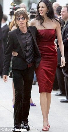 Utah-born American model, now fashion designer L'WREN SCOTT & boyfriend MICK JAGGER