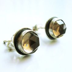 Smokey Quartz Earrings Brown Smokey Quartz by JillPopowichDesigns, $35.00