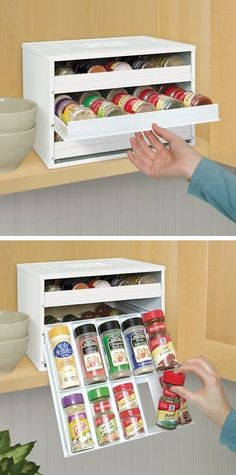 #11. Spice Bottle Organizer -- 55 Genius Storage Inventions That Will Simplify Your Life