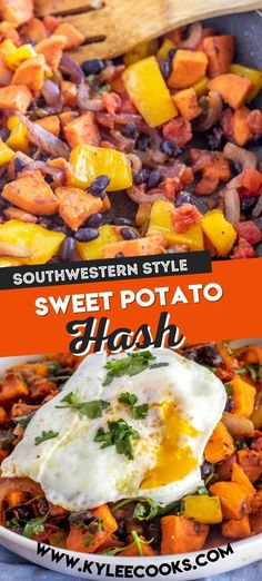 Sweet Potato Hash with delicious Southwest flavors that will delight your taste buds! You'll make this yummy breakfast hash recipe over and over!
