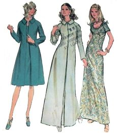 1970s Evening Dress and Coat sewing pattern  by retroactivefuture, $10.00