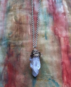 SoftFlexGirl: DIY Wire Wrap Crystal Icicle Pendant