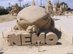 Nemo Sand sculpture!