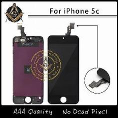[ $20 OFF ] 10PCS/LOT AAA Quality No Dead Pixel For iPhone 5C LCD With Touch Screen Digitizer Assembly  Via DHL
