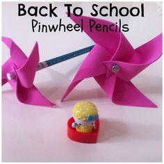 Back to School Pinwheel Pencil Kid's Activity