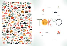 I love this Tokyo Illustration created by Argentinean illustrator Sol Linero. The illustration incorporates lots and lots of iconic Japanese things such as