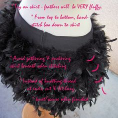 Feather Skirt DIY   ...love Maegan Diy Costumes, Dance Costumes, Costume Ideas, Halloween Costumes, Diy Clothing, Sewing Clothes, Cabaret, Black Swan Costume, Dance Outfits