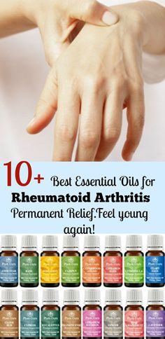 10 Best Essential Oils for Rheumatoid Arthritis Symptoms and Causes Permanent Relief. The natural treatments with rheumatoid arthritis diet work like a charm including frankincense oil etc. they are back pain joint pain arthritis in hands and muscle p Rheumatische Arthritis, Yoga For Arthritis, Natural Remedies For Arthritis, Rheumatoid Arthritis Treatment, Arthritis Relief, Types Of Arthritis, Pain Relief, Arthritis Exercises, Inflammatory Arthritis