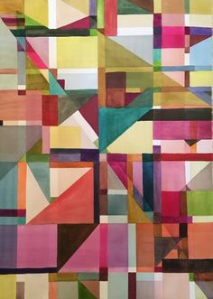 Buy Kleemanie, a Watercolor on Paper by Sylvie Demers from Canada. It portrays: Abstract, relevant to: square, triangle, colorful, Klee, cube, form, fresh, geometrical Continuing this Klee study! I' m enjoying those forms and colors together!!
