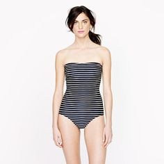 Rope stripe bandeau tank (for a dip in the blue lagoon!) #myshoestory #jcrew