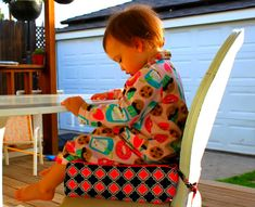 Modern & Comfy DIY Booster Seat | Prudent Baby