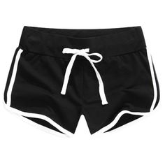 Side Stripe Sport Shorts ($19) ❤ liked on Polyvore featuring activewear, activewear shorts, shorts and sports activewear