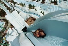 Summit Plummet rockets you down a sheer 120-foot slope at unbelievable speeds, making it the most extreme attraction at Disney's Blizzard Beach Water Park at the Walt Disney World Resort