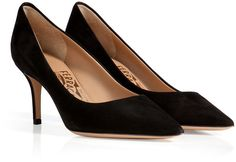 Black Suede Pumps by Salvatore Ferragamo. Buy for $329 from STYLEBOP.com