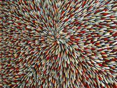 The Bush Leaf Dreaming by Abie Loy Kemarre at Aboriginal Art Directory - Abie Loy Kemarre Australian Aboriginal Artist