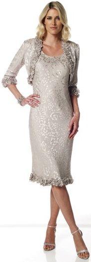 A-line dress with matching bolero