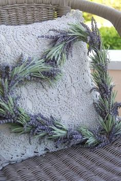 Lavender/Rosemary heart  -  use instead of rose petals in the honeymoon suite, something that can be dried and kept.