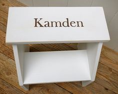 Personalized Vintage Style Two Step Stool Handmade By Circle Creek Home