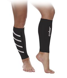 Gabor Fitness Graduated 2025mm Hg Compression Running Leg Sleeves Large Black >>> Want additional info? Click on the image.