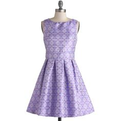 ModCloth Mid-length Sleeveless A-line Eye on the Prized Dress ($60) ❤ liked on Polyvore featuring dresses, modcloth, vestidos, purple, apparel, fashion dress, embellished cocktail dress, embellished dresses, party dresses and pleated dress