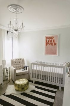 Emerson Grey Designs : Nursery Interior Designer: I want  a black and white striped rug like this! :)