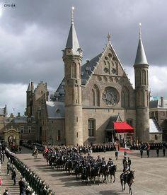 Binnenhof in Den Haag. Den Haag is de op 2 na grootste stad van Nederland.