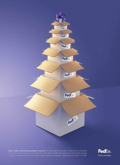 Cutest...fed ex shows box sizes and is a tree too.