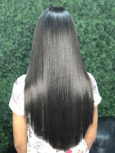 Bun Hairstyles For Long Hair, Pretty Hairstyles, Straight Hairstyles, Beautiful Long Hair, Gorgeous Hair, Beautiful Women, Long Silky Hair, Long Black Hair, Waist Length Hair