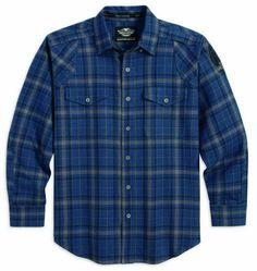 Harley-Davidson Men's Button Flannel Plaid Long Sleeve Shirt Blue 96560-14VM Wisconsin Harley-Davidson http://www.amazon.com/dp/B00JXVUOUS/ref=cm_sw_r_pi_dp_yttbub07B9H7H
