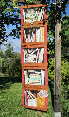 books+on+shelves+quilt | Selvage Bookcase Quilt