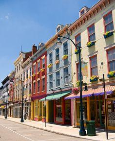 at Findlay Love the historic architecture of Cincinnati.Love the historic architecture of Cincinnati. Over The Rhine Cincinnati, Cincinatti, Cincinnati Neighborhoods, Newport, Findlay Market, Nashville, Orlando, Detroit, Paraty