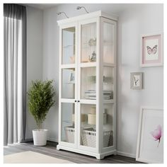 LIATORP Glass-door cabinet, white, 37 Are you a romantic at heart? The delicate shapes and details are reminiscent of country living. Combine with other furniture in the LIATORP series for a complete, beautiful look. Ikea Liatorp, Ikea Hemnes Cabinet, Glass Cabinet Doors, Glass Shelves, Glass Doors, Liquor Cabinet, Shabby Chic Kitchen, Shabby Chic Decor, Furniture Makeover