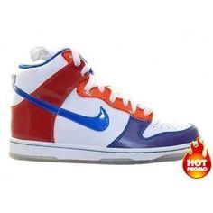 buy popular 4cb22 6d025 Women Nike Dunk High Premium ND GS White Royal Orange Blaze Red