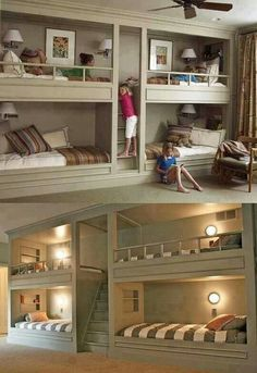 Great idea in basement or spare bedroom. Extra space for sleepovers!