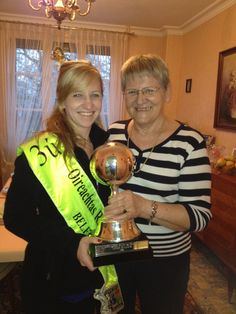 Brought the World trophy to cousin Janine in France to have the best celebration EVER!