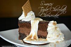 Homemade Cheesecake Factory S'mores Triple Chocolate Cheesecake | AllFreeCopycatRecipes.com