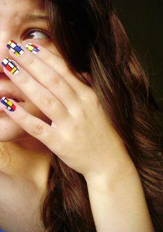 Incredibly Geometric Nail Art: 80 photos to give Ctrl C Ctrl V! Nail Art Designs, Nail Polish Designs, How To Do Nails, Fun Nails, Nice Nails, Ctrl C Ctrl V, Color Block Nails, Nailart, Geometric Nail Art