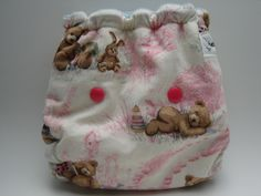 BEAR-Y SWEET DREAMS One Size Cotton Hemp Fitted Cloth Diaper. $22.50, via Etsy.