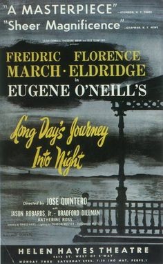 Long Day's Journey Into Night 11x17 Broadway Show Poster (1956)